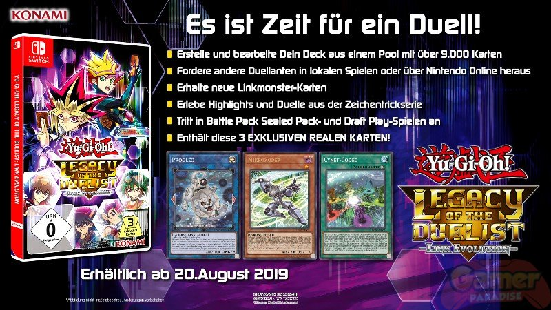 Yu-Gi-Oh! Legacy of the Duelist: Link Evolution erscheint exklusiv für Nintendo Switch